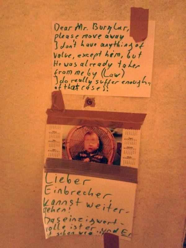 Einbrecher in Berlin Warnung an Einbrecher