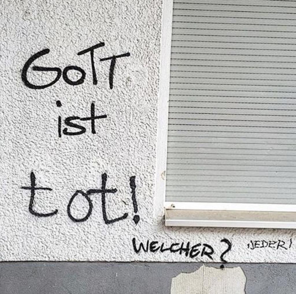 Gott ist tot Es gibt keinen Gott Berliner Gott