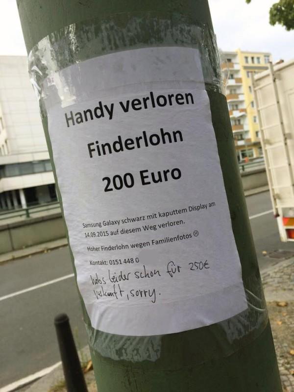 Katze verloren in Berlin Notes of Berlin Zettel Aushang