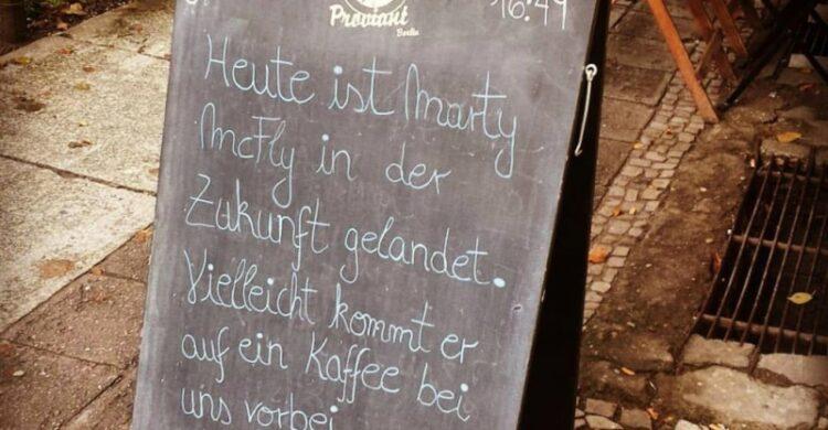Marty McFly Zurück in die Zukunft Berlin 21.10.2015