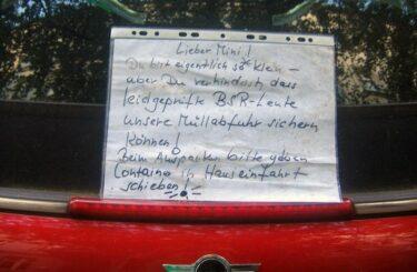 Mini Auto Berlin Falsch parken Zettel Notes of Berlin