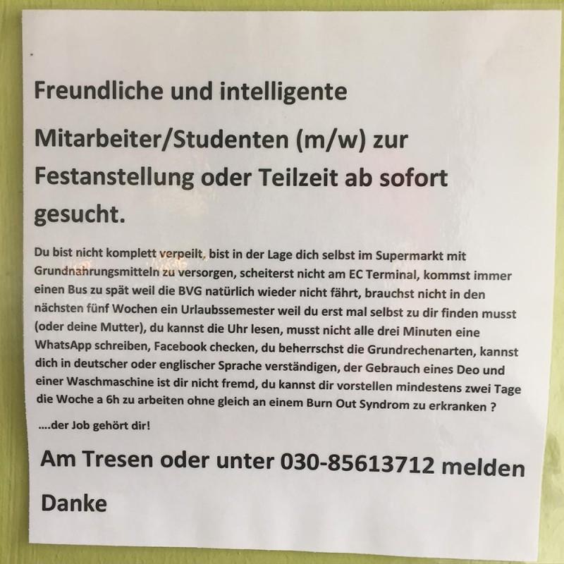 Minijob Student Berlin