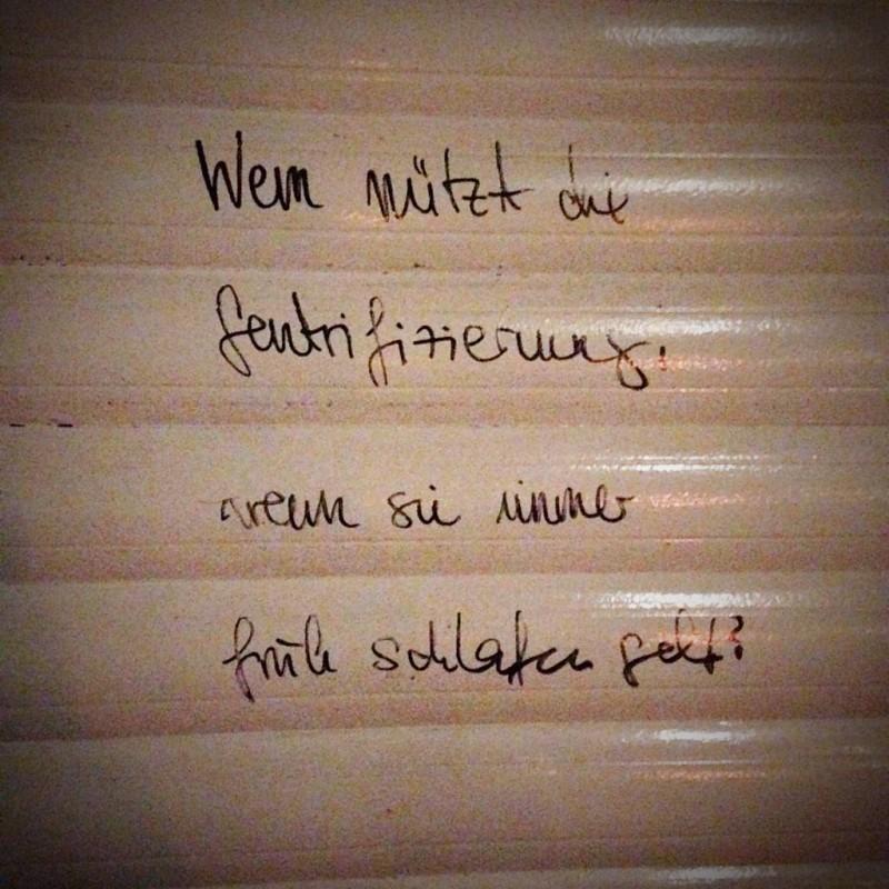 Gentrifizierung Berlin Graffiti