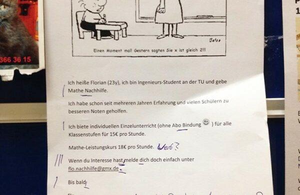Mathe-Nachhilfe Mathematik Nachhilfeunterricht Berlin