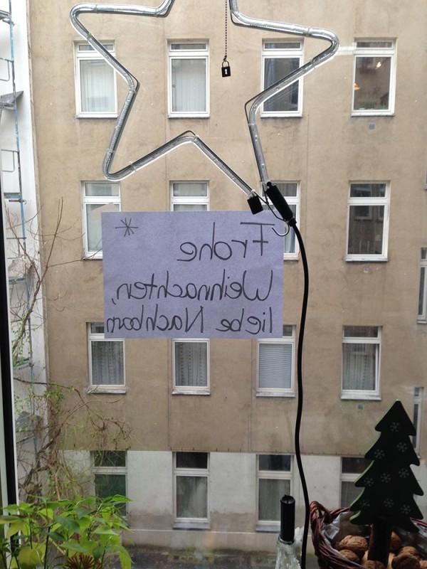 Frohe Weihnachten unter Nachbarn