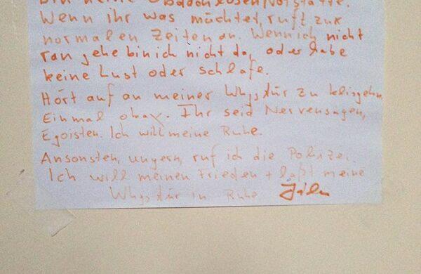 Ich hab die Schnauze voll_Notes of Berlin