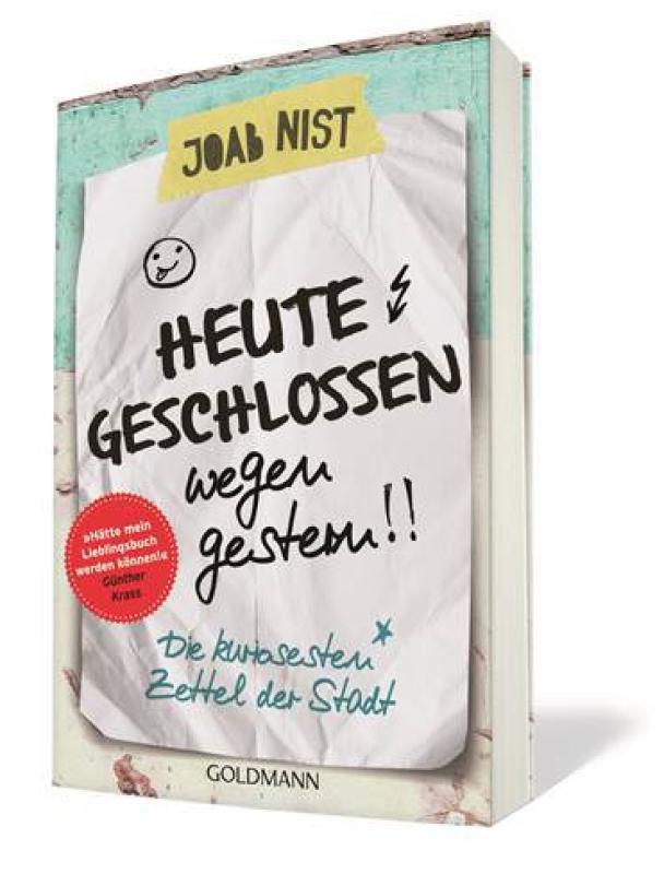 Notes of Berlin Buch Joab Nist Zettel