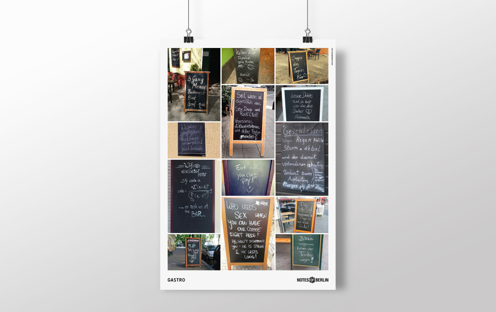 Notes of Berlin Plakat Poster Gastro
