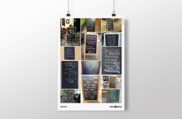 Notes of Berlin Plakat Poster Gastro