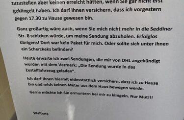 Ärger mit Paketzusteller DHL