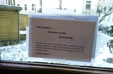 Arschkalt Winter in Berlin