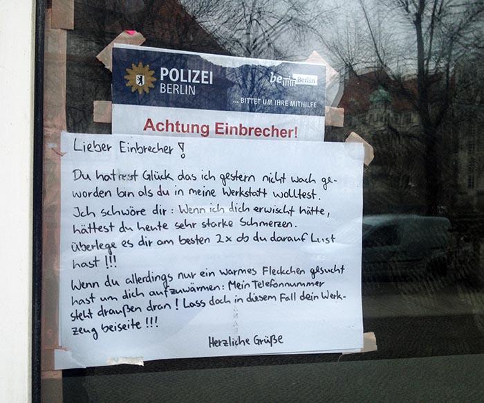 Einbrecher in Berlin_Polizei