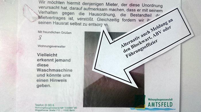 Fiese unfreundliche Hausverwaltung Berlin