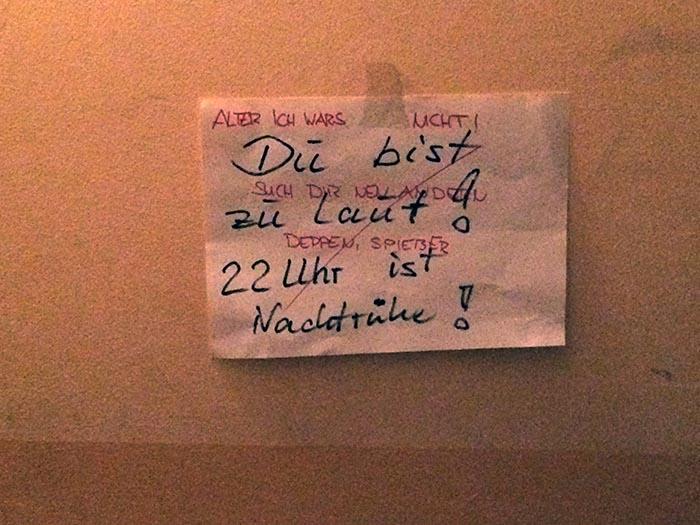 Nachtruhe Nachbarn Berlin
