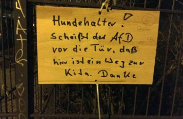 AfD ist scheisse Berlin