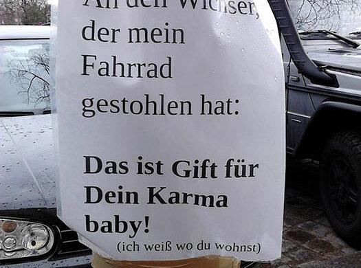 Fahrraddieb Karma Berlin