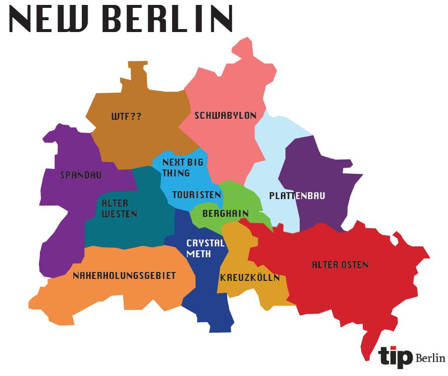 Berliner Bezirke Stadtteile