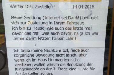 DHL Berlin Zustellung Paket Probleme