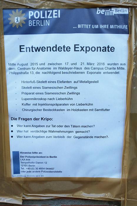 Diebstahl Einbruch in Universitaet Berlin
