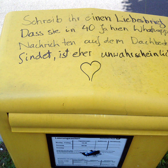 Old school Liebesbrief