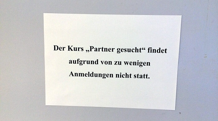 Partner gesucht Kurs Flirtkurs Berlin
