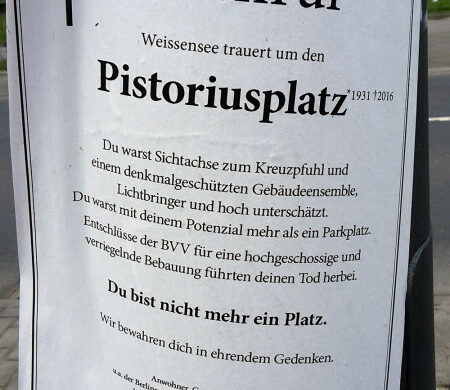 Pistoriusplatz Berlin Bebauung Anwohner sauer