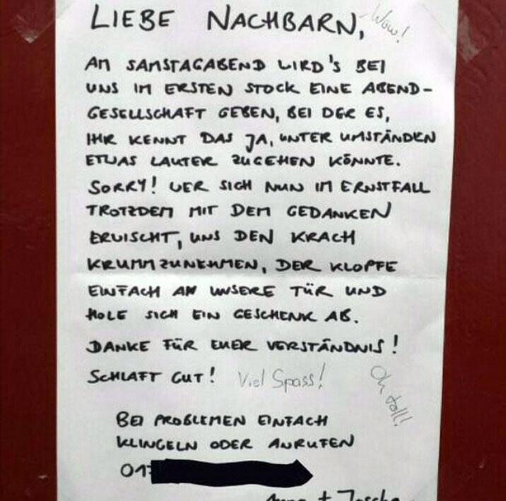 privatparty  berlin wie man es den nachbarn kommuniziert