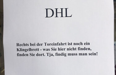 Probleme mit Paketlieferanten DHL
