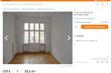 Wohnung Schillerkiez Berlin