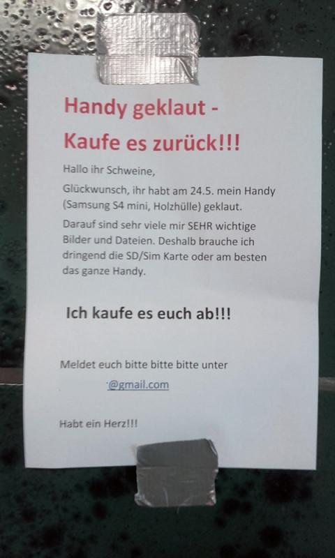 Handy geklaut gestohlen Berlin