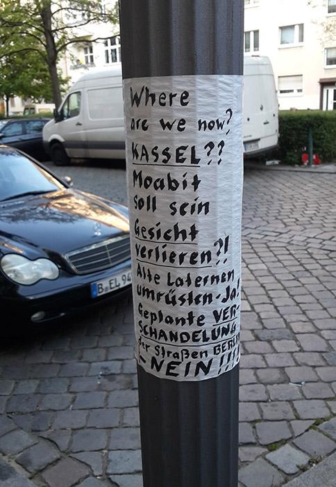 Neue Laternen in Berlin