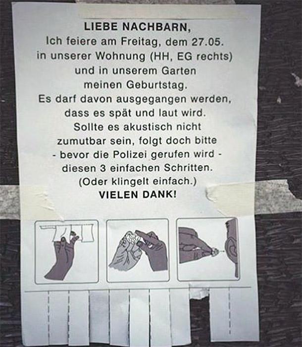 Privatparties Berlin Nachbarn