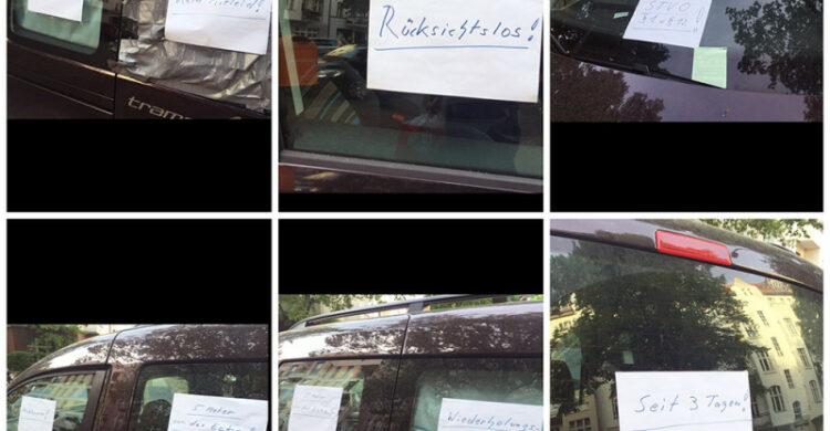 Rücksichtslos geparkt