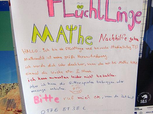 Nachhilfe für Flüchtlinge Berlin
