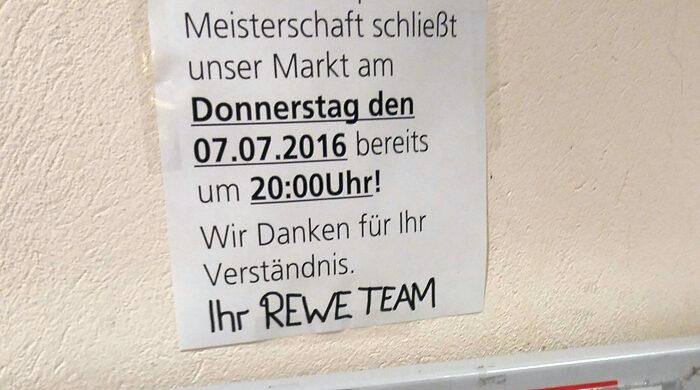 Rewe EM geschlossen