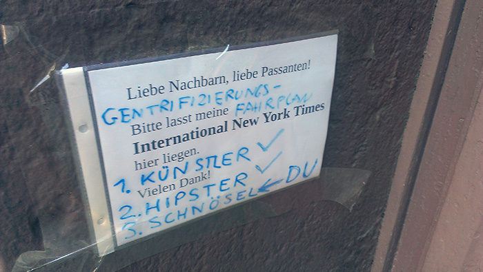 Gentrifizierung Berlin international