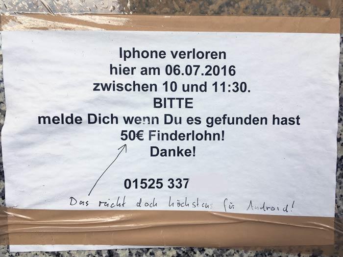 Finderlohn Berlin Vorstellung Iphone