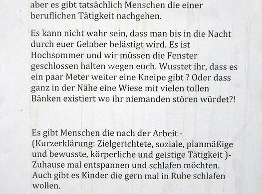 Laute Anwohner Nachbarn Berlin