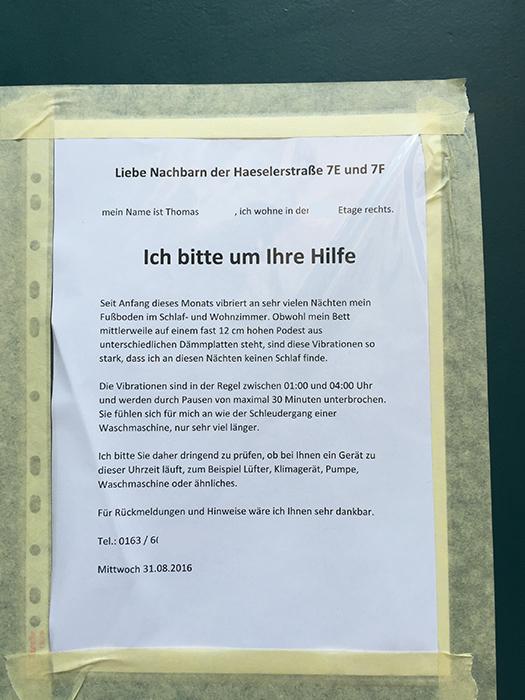 Nachbarn Berlin Ruhestörung