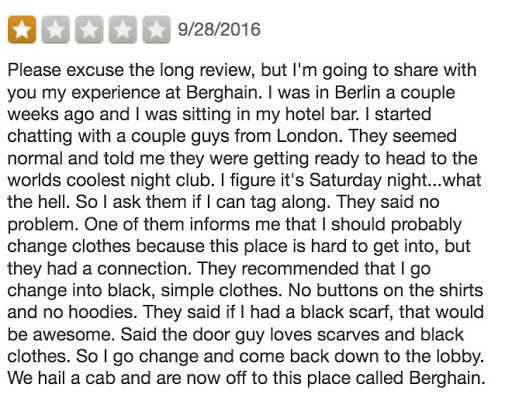 Berghain Erfahrungsbericht