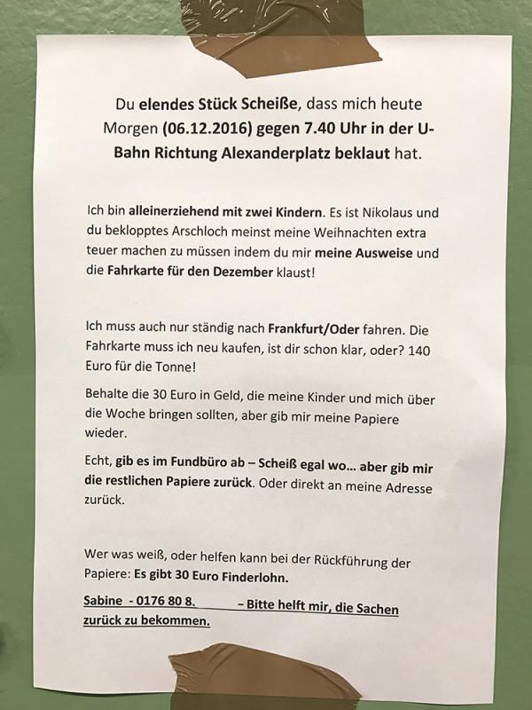 Achtung Berliner: Vorsicht vor fiesem Taschendiebstahl in der U-Bahn!