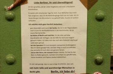 Notes of Berlin Spende Mutter
