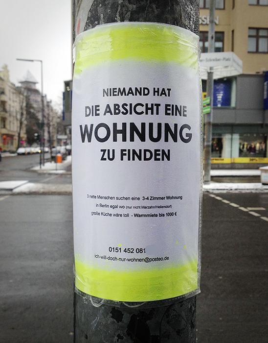 Wohnungssuche Berlin schwierig