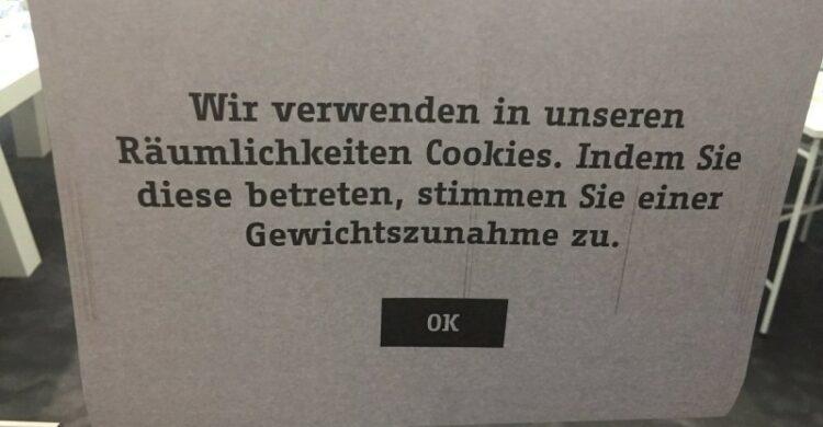 Cookies Warnschild Berlin