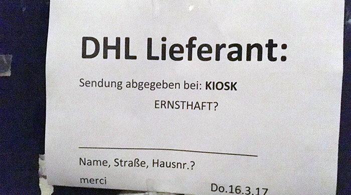 Problem mit DHL Lieferant