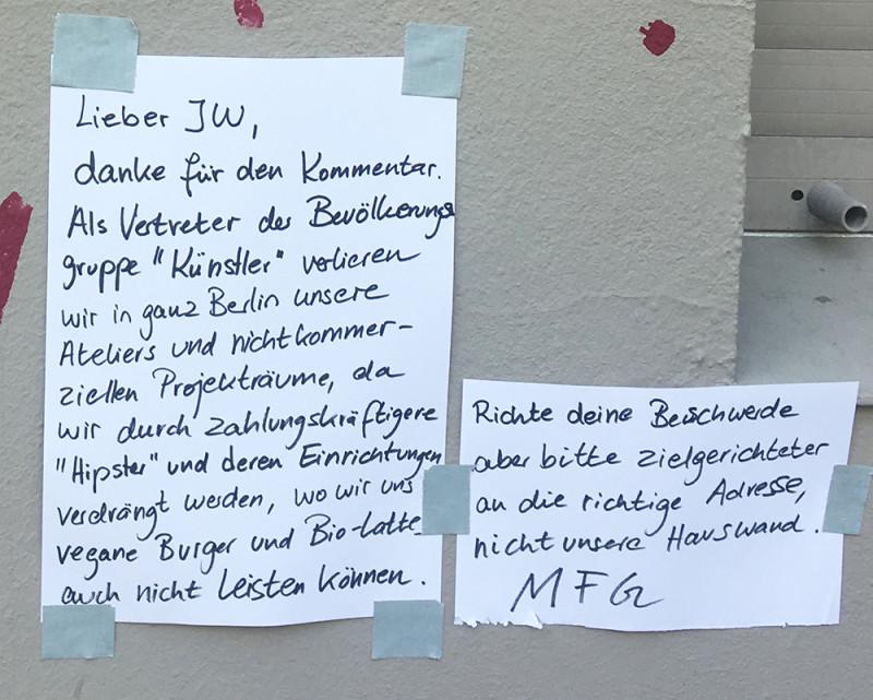 Graffiti Gentrifizierung Berlin