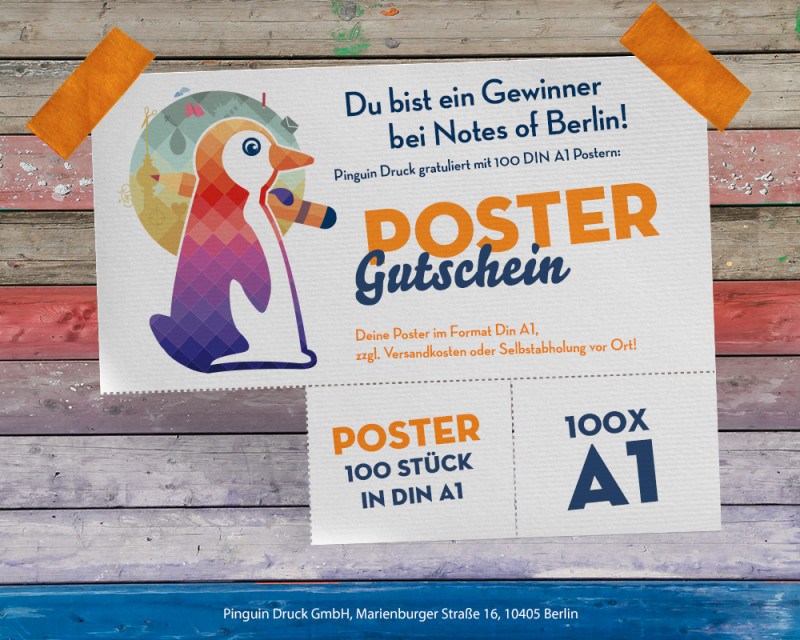 Pinguindruck Poster