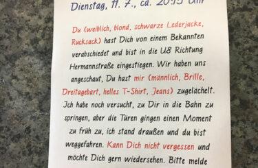 Suchanzeige Frau Berlin
