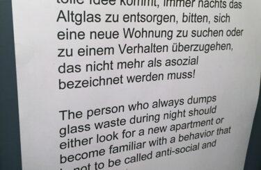 Altglas entsorgen Berlin