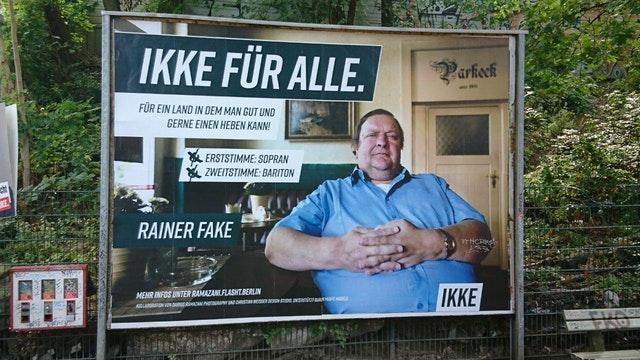 ikke wahlplakat berlin